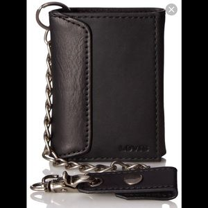Levi's trifold wallet with chain